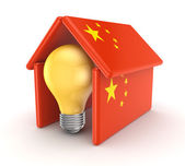 Symbol of idea under chinese flag. — Foto Stock