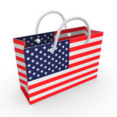 Packet with flag of America. — Stock Photo