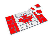 Canadian flag made of puzzles. — Stockfoto