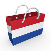 Packet with flag of Netherlands. — Stock Photo