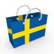 Packet with flag of Sweden. - Stock Photo