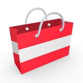Paket med flagga av österrike. — Stockfoto