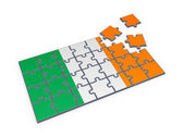 Irish flag made of puzzles. — Stock Photo