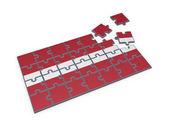 Letse vlag gemaakt van puzzels. — Stockfoto