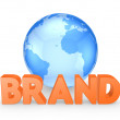 Word BRAND. — Stock Photo