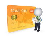 Koncepcja karty kredytowej. — Zdjęcie stockowe