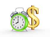 Green watch and sign of dollar. — Stockfoto