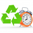 Sign of recycle and orange watch. — Stock Photo #27912163