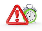 Símbolo de alerta de roja y verde ver. — Foto de Stock