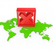 Red cross mark on a map. — Stock Photo #32892999