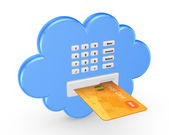 Cloud computing concept. — Stock Photo