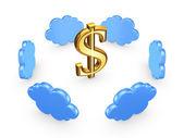 Concetto di cloud computin. — Photo