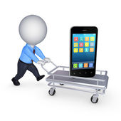 Cellphone on pushcart. — Stock Photo