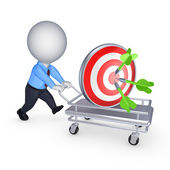 Dartboard on pushcart. — Stock Photo