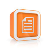 Notepad icon. — Stock Photo