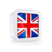 Icon with flag of UK. — Stock Photo