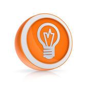Bulb icon. — Stock Photo