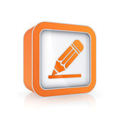 Pencil icon. — ストック写真