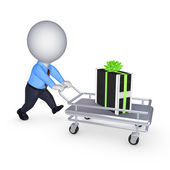 PC on pushcart. — Stock Photo