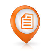 GPS icon with symbol of notepad. — Stock Photo