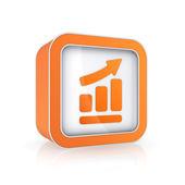 Graph icon. — Stock Photo