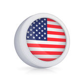 Icon with American flag. — Stock Photo
