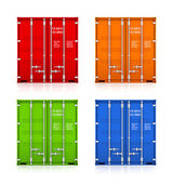 Set of colorful containers. — Stock Photo