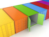 Colorful containers. — Stock Photo