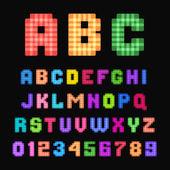 Pixel-schrift. — Stockvektor