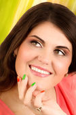 Portrait of happy woman — Stockfoto