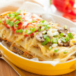 Italian lasagna dish with vegetables — Stock Photo #17367917