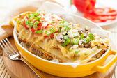Italian lasagna dish with vegetables — Stock Photo