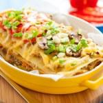 Italian lasagna with vegetables — Stock Photo