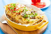 Italian lasagna with vegetables — Stock Photo
