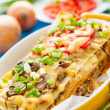 Traditional Italian Lasagna in yellow dish — Stock Photo
