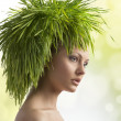 Pretty girl in ecological portrait - Stock Photo