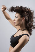 Fashion portrait of girl in profile — Stock Photo