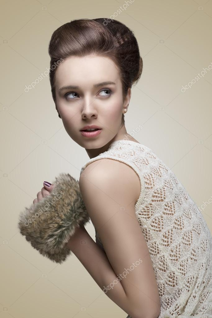 Fashion Girl With Creative Hair Style Stock Photo