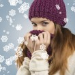 Pretty woman with winter style  — Stock Photo
