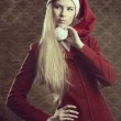 Attractive winter christmas girl — Stock Photo #34739137