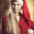 Christmas portrait of fashion girl — Stock Photo