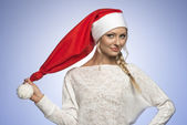 Young xmas girl — Stock Photo