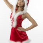 Portrait of sexy christmas girl — Stock Photo #35434873
