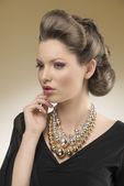 Close-up of aristocratic pretty woman — Stock Photo