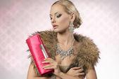 Aristocratic fashion woman — Stock Photo