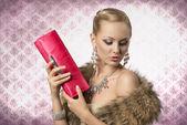 Elegant aristocratic woman — Stock Photo
