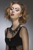 Fashion bizarre girl — Stock Photo