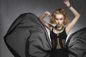 Fashion grotesque girl — Stock Photo