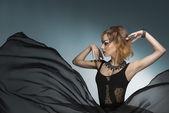Bizarre fashion woman — Stock Photo