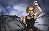 Gothic fashion woman — Stock Photo